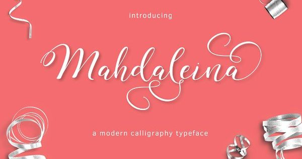 Mahdaleina is modern calligraphy script font, every single letters have been carefully crafted to make your text looks beautiful