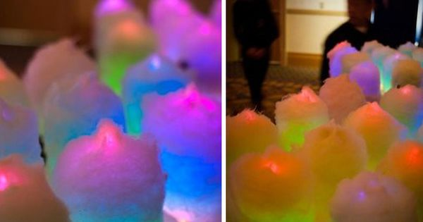 Glow in the dark {cotton candy} cottoncandy
