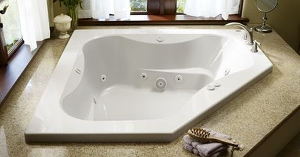 Jacuzzi 60 In X 60 In Primo 2 Person White Acrylic Corner Whirlpool Tub Whirlpool Tub Refinish Bathtub Bathtub