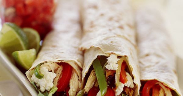 Healthy Summer Burrito - Whole Living Eat Well,Flour tortillas can be wrapped
