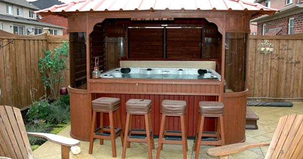 Hot Tub Gazebo With Built In Outdoor Bar Home Design