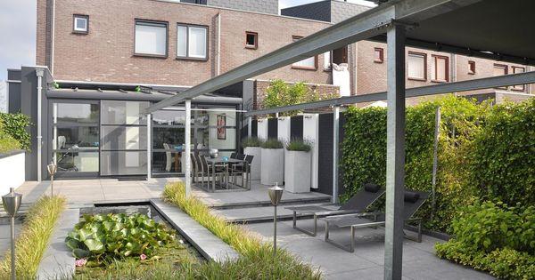 Moderne tuinen hebben strakke lijnen en zijn opgebouwd uit moderne materialen wil je een - Landelijke chique lounge ...