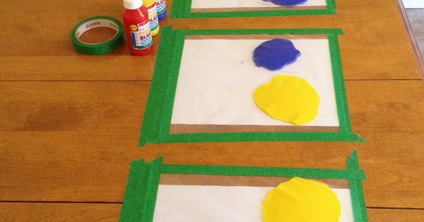Mess Free Finger Painting - this is GENIUS!!! kids craft
