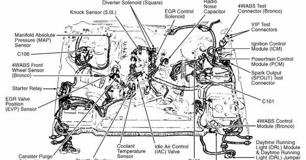 1988 ford f150 5 0 302v 8 vacuum hose wiring diagram 1988 1988 f150 5 0 engine diagram 1988 automotive wiring diagrams