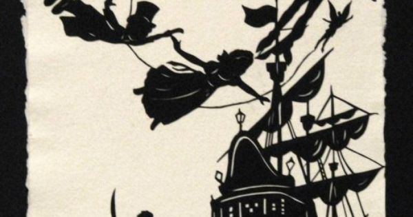 Peter pan silhouette tattoo