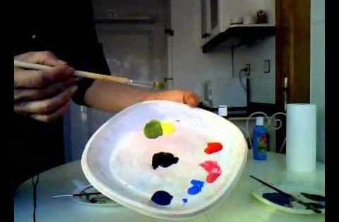 Mezclar colores c mo usar el negro para oscurecer colores for Mezclar colores de pintura