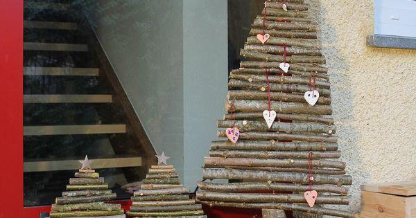 diy weihnachtsbaum aus sten basteln deko weihnachten sterne x mas deko pinterest. Black Bedroom Furniture Sets. Home Design Ideas