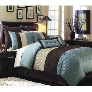 Chocolate Brown And Blue Bedding Brown Bedroom Home Bedroom