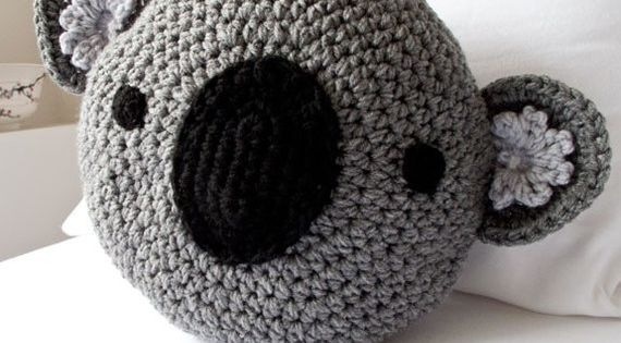 CROCHET KOALA PILLOW crochet etsy pillow