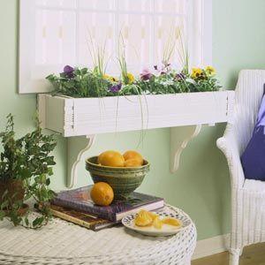 Diy Home Decor Indoor Planter Box Indoor Garden Rooms Indoor Window Boxes