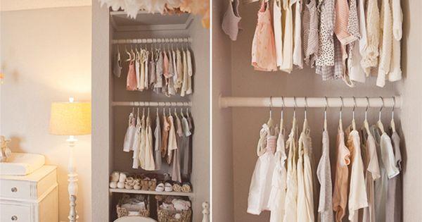 """Through the years"" ... organization at it's best! baby nursery closet organization"