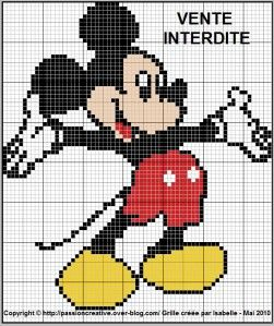 Patron Tricot Mickey Crochet Dysney Chat Point Croisé Et