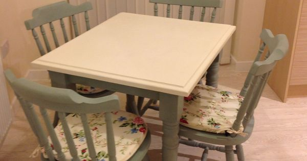 Upcycled an old pine table and chairs into a cream and  : 957ff9de14ec61adefe4941423156476 from www.pinterest.com size 600 x 315 jpeg 25kB