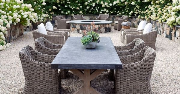 Restoration hardware outdoor dining table real life for Restoration hardware outdoor dining