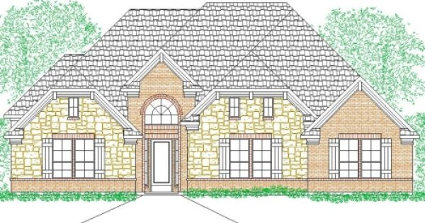 House Plan 2982 166 Traditional Brick Stone Front