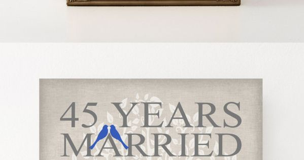 45th Wedding Anniversary Gift Ideas Parents : 45th Wedding Anniversary Gift for Parents Sapphire Anniversary Gift 45 ...