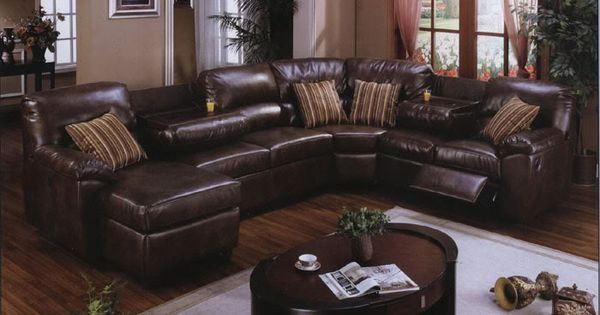 Brown Leather Sectional This Is My Couch That I Want So