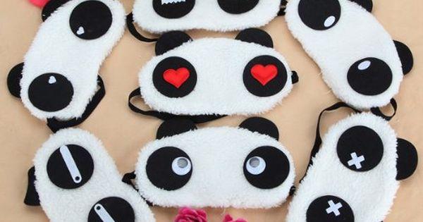Masque de nuit panda patron couture pinterest pandas - Patron masque de nuit ...