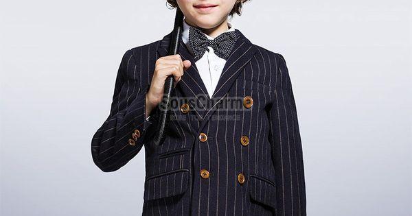 veste gar on enfant costume bleu marine rayures le haut. Black Bedroom Furniture Sets. Home Design Ideas