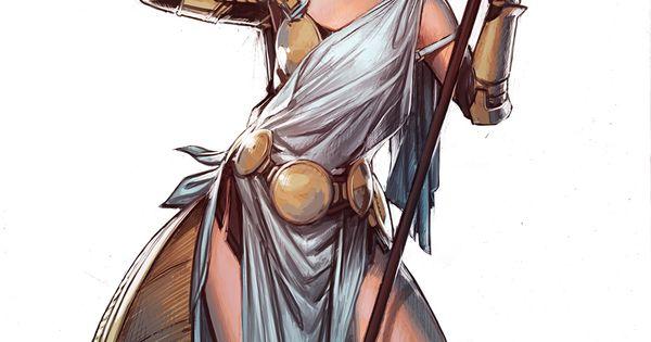 Athena By YamaOrce Female God Godess Archer Hunter