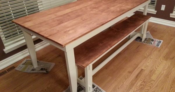 Rustic Table And Bench Minwax Honey Stain Wood