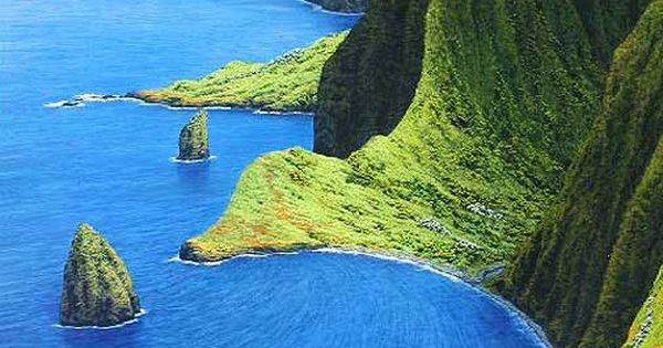 Molokai, Mist Over the Mountains, Hawaii... Photography Beautiful Places