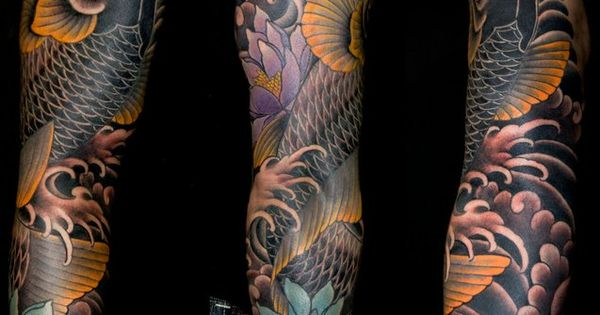 AMAZING colour scheme on this Koi sleeve. Credit: Aaron Bell || Slave