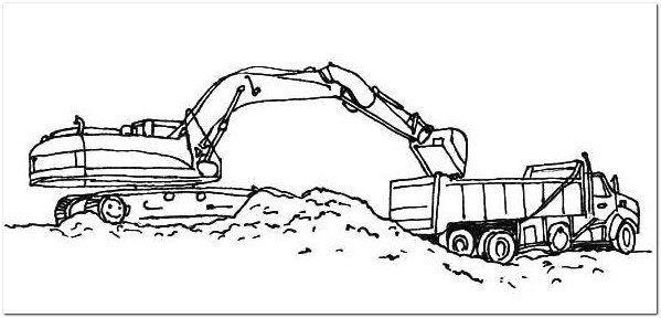Excavator Coloring Page Printable Bmo Show