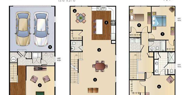 New construction townhouse floor plans bensalem bucks for Townhouse construction plans