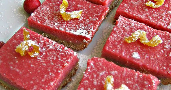 Cranberry bars, Shortbread crust and Cranberries on Pinterest