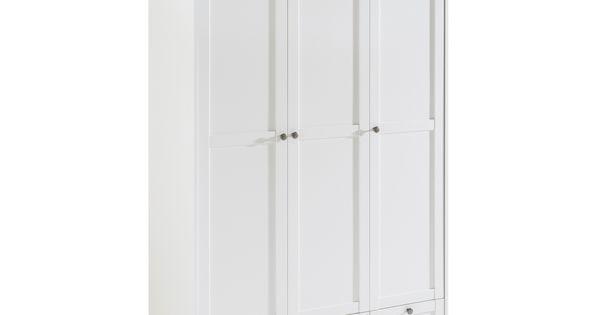 Kleiderschrank Landwood 120 X 200 Cm Weiss Kunststoff In 2020 Schrank Kleiderschrank Tiefer Schrank
