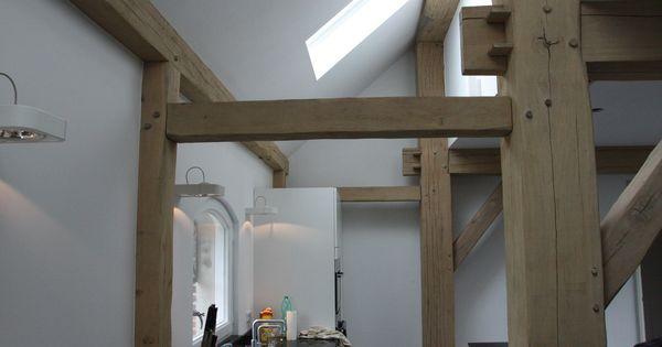 Licht en ruimte in de oude stal vide pinterest boerderij architectenbureau en garages - Deco oude keuken ...