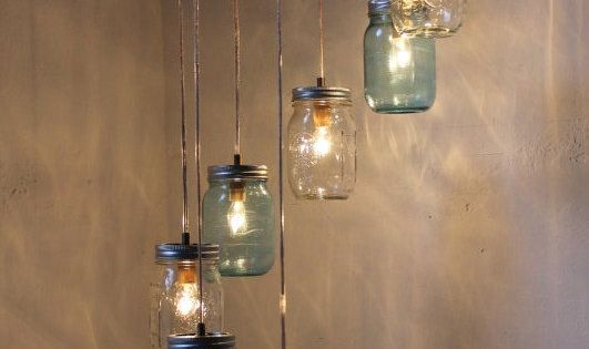 Mason Jar Lighting Mason Jar Chandelier - I realize I am totally