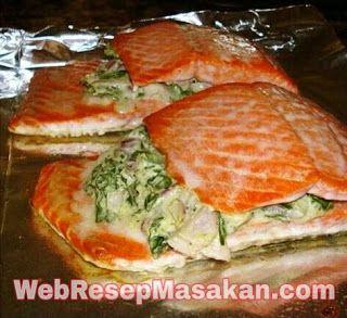 Resep Ikan Salmon Panggang Oven Resep Ikan Resep Masakan Makanan Dan Minuman