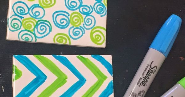 It S So Fast And Easy To Make These Versatile Sharpie Tile Coasters All You Need Are