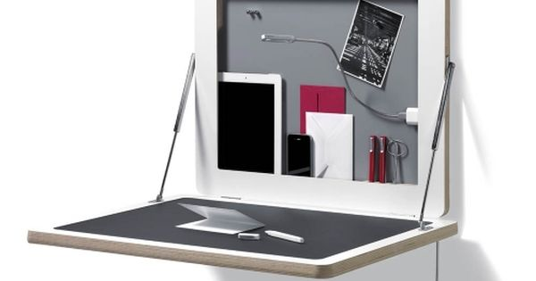 Le bureau mural rabattable flatframe de m ller for Cadre photo design mural