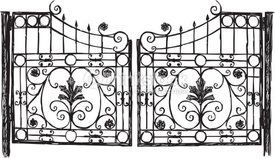 Wrought Iron Gate Drawings Google Search With Images Wrought