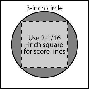 Square Circle Card Template Window Cards Cathedral Windows Cathedral Quilt