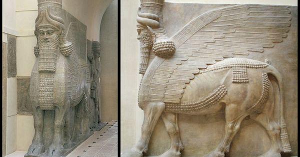 25. Lamassu from the citadel of Sargon II, Dur Sharrukin ...