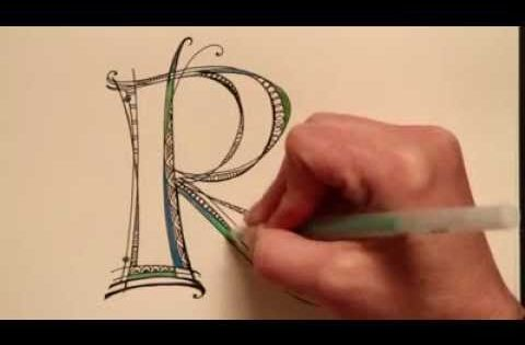 Holy cow! This is amazing! Video of how to do letters -