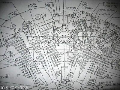 details about harley davidson shovelhead engine blueprint flh fx details about harley davidson shovelhead engine blueprint flh fx fxr tranny engine and harley davidson