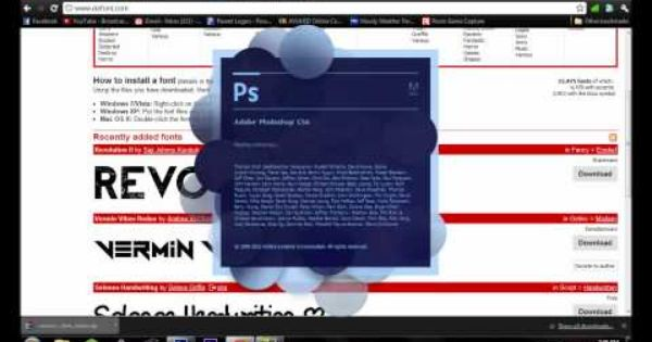How to instal fonts in photoshop