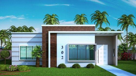 Dise o de casa peque a y moderna de tres dormitorios Disenos de casas economicas