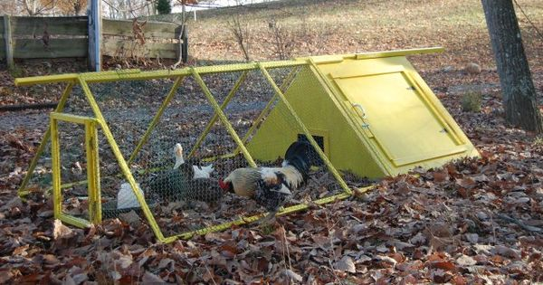 Portable duck pen with house down on the farm for Movable duck house