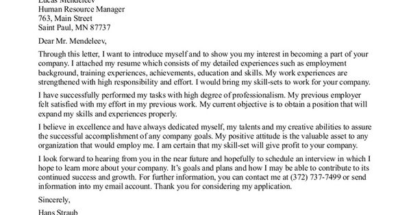 general cover letter sample your choice whether to go into