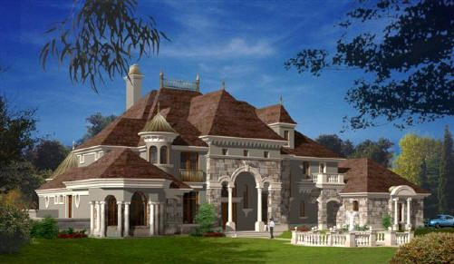 French Country Manor Luxury House Plans French Country House French Castles
