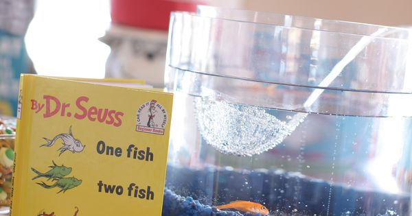 ... than the other). Use fish rocks, water and a fish in the space between