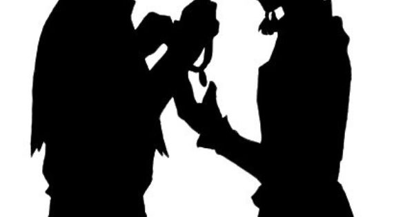 Sokka and Suki silhouette, betrothal necklace