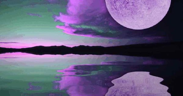 dancing with the moon | Background Wallpaper Image: Purple Moon Sunset