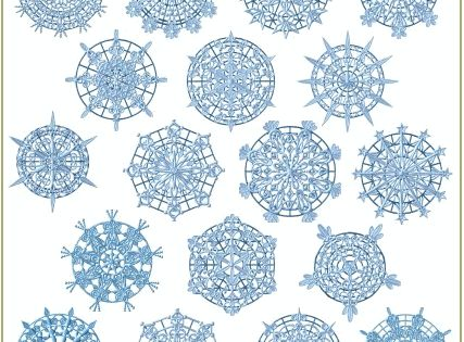 Stand Alone Embroidery Designs : Snowflakes standalone lace machine embroidery designs